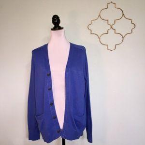Club Monaco blue V-neck cardigan